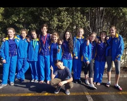Our teen gymnasts competing at the High School Champs 2017